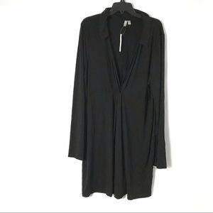 ASOS Tall Women Dress Longsleeve Knot Deep V 16